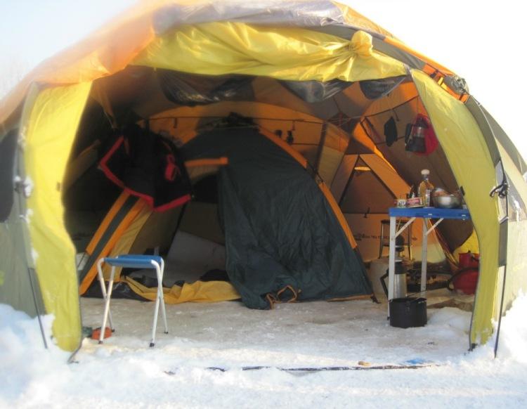 палатка на рыбалку своими руками