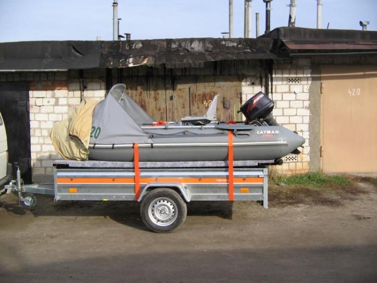 как перевозить пвх лодку на автоприцепе
