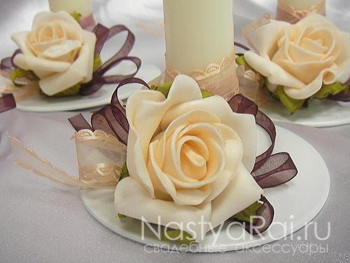 Как можно украсить свадебные столы своими руками