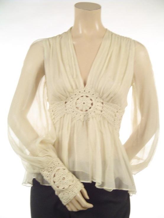 钩布结合衣裙(143)) - 柳芯飘雪 - 柳芯飘雪的博客