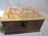 """Подарок Шкатулка  """"Мишки в чемодане """".  Handmade.  Шкатулки ручной работы."""