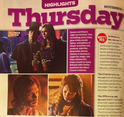 Скан журнала TV Guide с новым стиллом к 4.04 - «Пять»