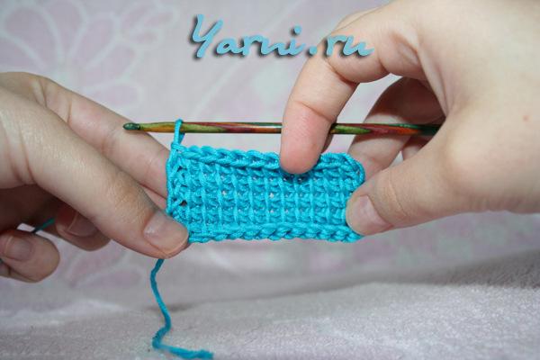 тунисское вязание узор плетенка