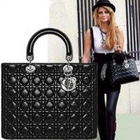 Сумки, сумки. руб1.660,54.  Dior black patent letather lady dior bag...