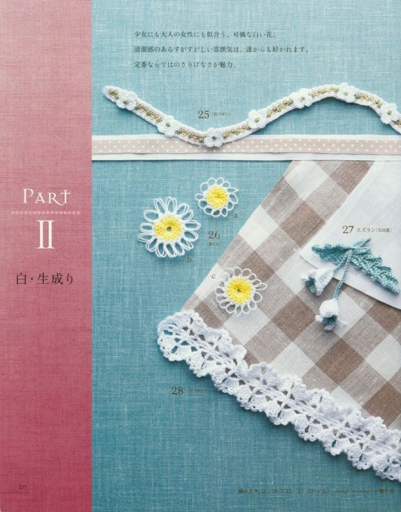 gift present for crafter: lacework flower motif 100 magazines