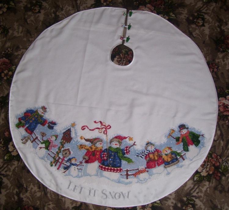 вышивка крестом юбки для елки схемы