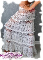 Юбка вязаная крючком схема. юбки вязаные крючком Схемы вязания