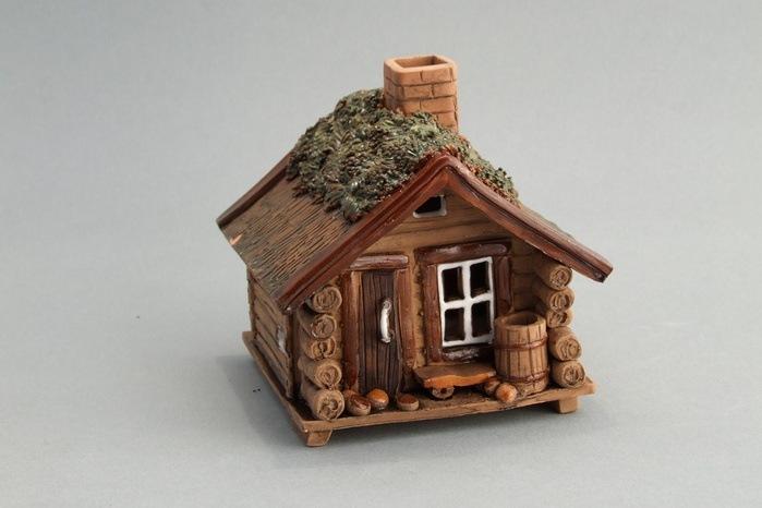 Новогодние домики из соленого теста мастер класс