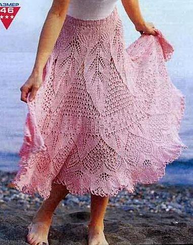 Вязание онлайн юбки