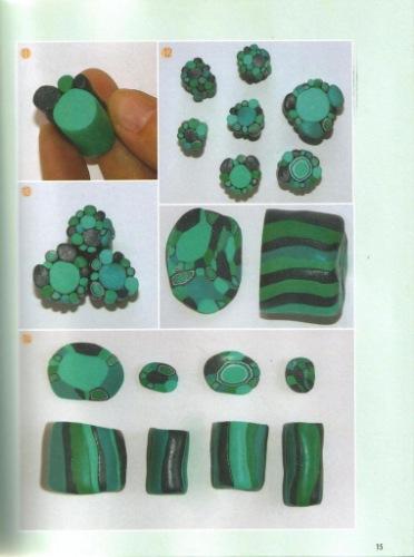 Как сделать малахит из полимерной глины