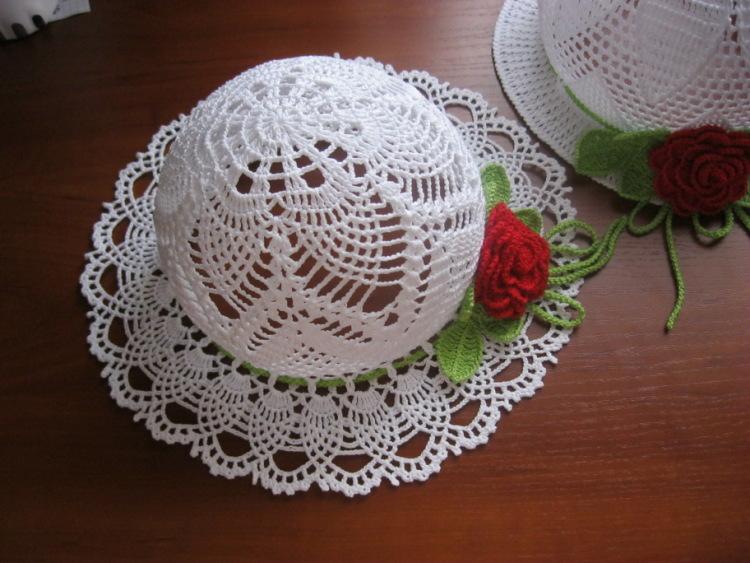 Шляпы женские летние крючком