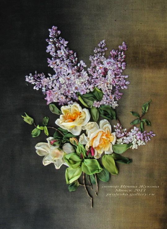 Готовые цветы из лент купить доставка цветов город мирный