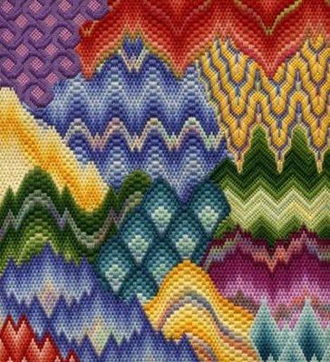 Флорентийская вышивка.