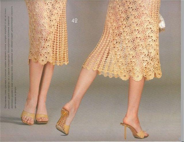 Вязание юбок ленточным кружевом 79