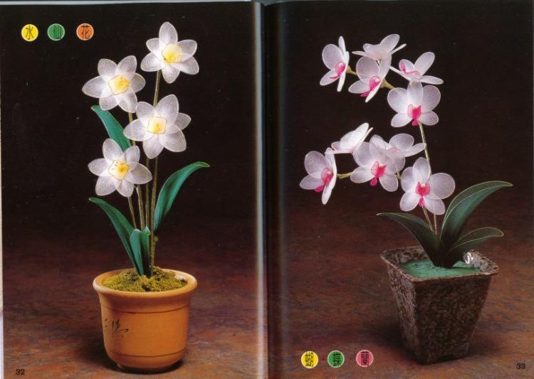 Цветы из капрона мастер класс фото