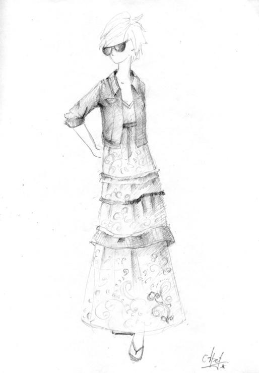 Эскизы женских деловых костюмов