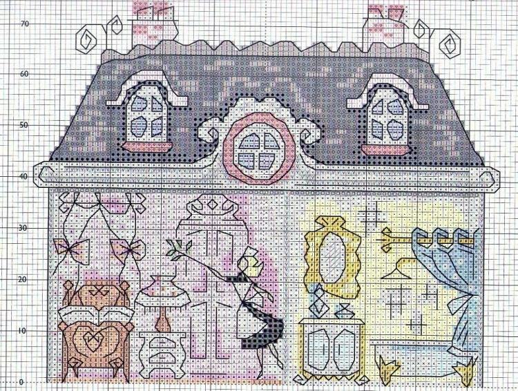 Журнал вышивка крестом домик