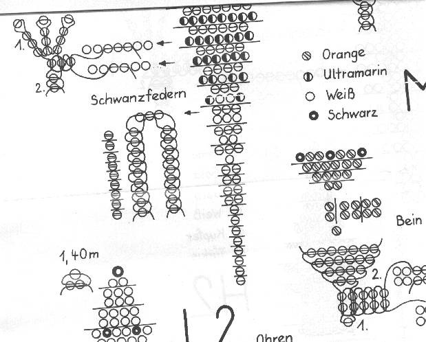 Схема бисероплетения попугай