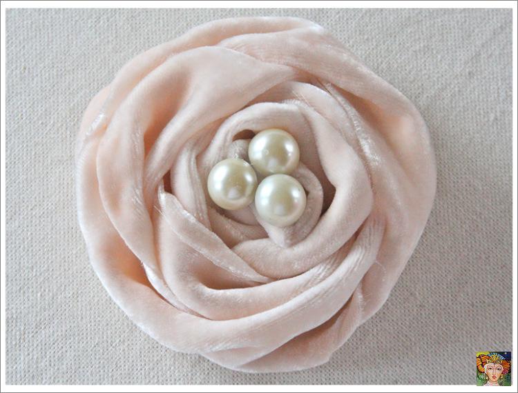 Как сделать розы из ткани своими руками из ткани