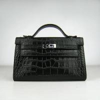 Сумки женские Hermes Hermes Kelly bag 22 cm H008_2 black.