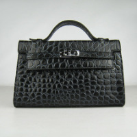 Купить Сумка Hermes Mini Kelly black colour crocodile.