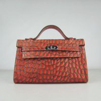 Купить Сумка Hermes Mini Kelly orange colour crocodile.