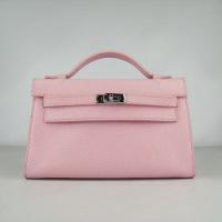 Hermes Kelly 22CM H008 сумочка розовая.