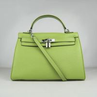 Реплика сумки Hermes Kelly 032 траве (серебро)