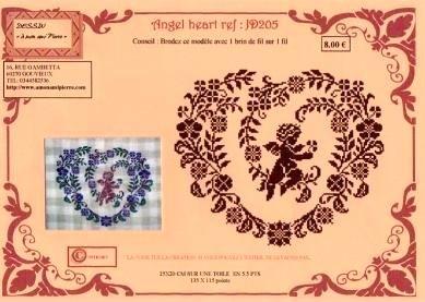 вышивка крестом схемы Сердце - моно.