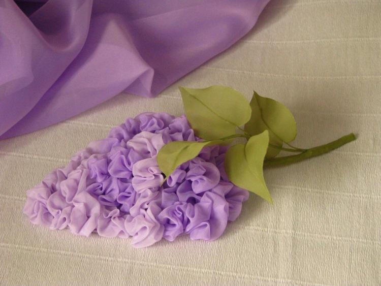 Как сделать цветок из ткани фото своими руками