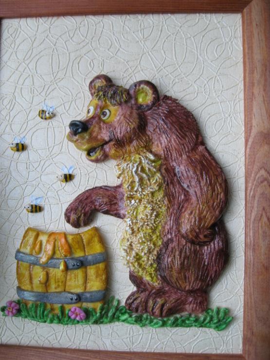 Медведь своими руками поделка из 555