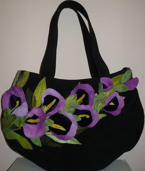 "Ярмарка Мастеров - ручная работа вышитая сумка + очечник  "" - вышитая сумка + очечник  ""Полевые цветы."