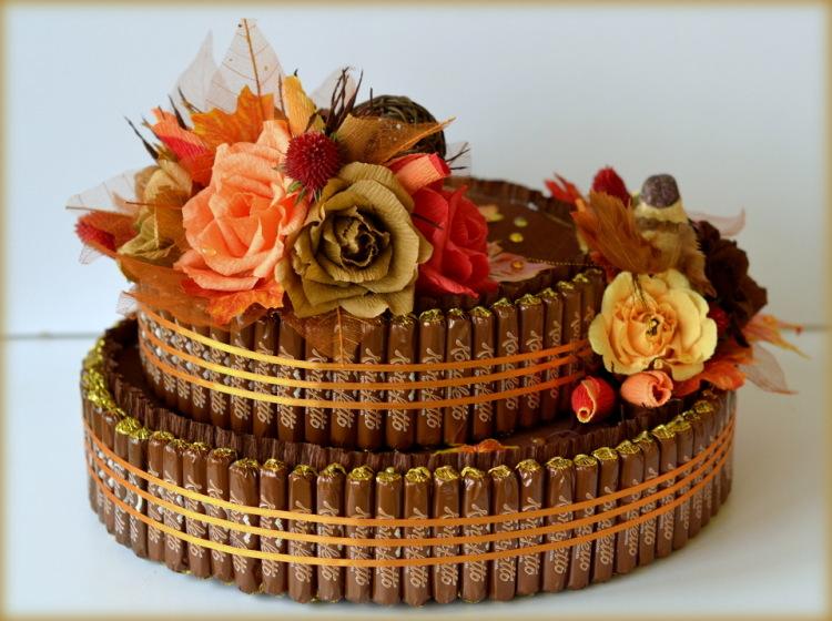 Видео мастер класс торт из конфет своими руками