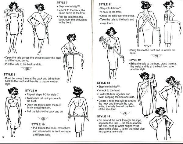 Очень понравилось.  Незнаю откуда оно...  Платье-трансформер НОВИНКА! -выкройка и 34 схемы как носить!