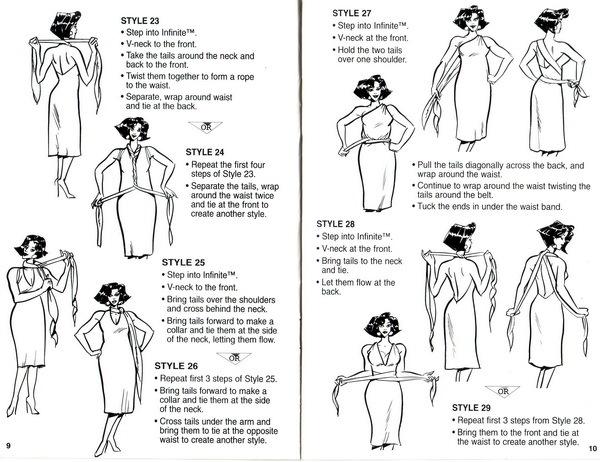 И самый трудоемкий вариант: платья-трансформер EMAMI.