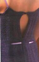 Вырез платья сзади.  Ажурный узор 1 (прямым полотном): 1 ряд - (2 вместе...