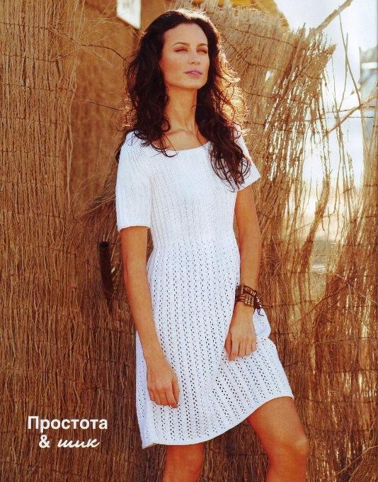 Платье (вязание спицами