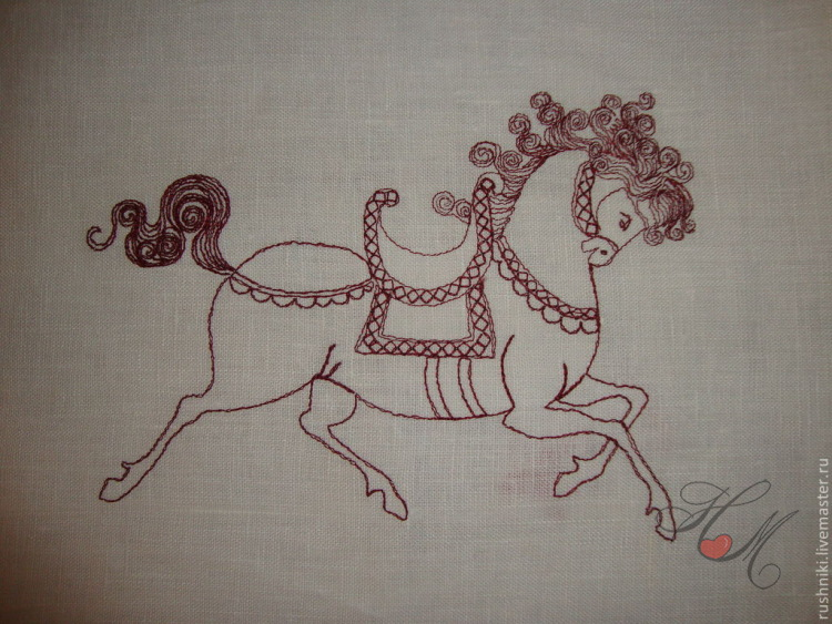 бродерия кон