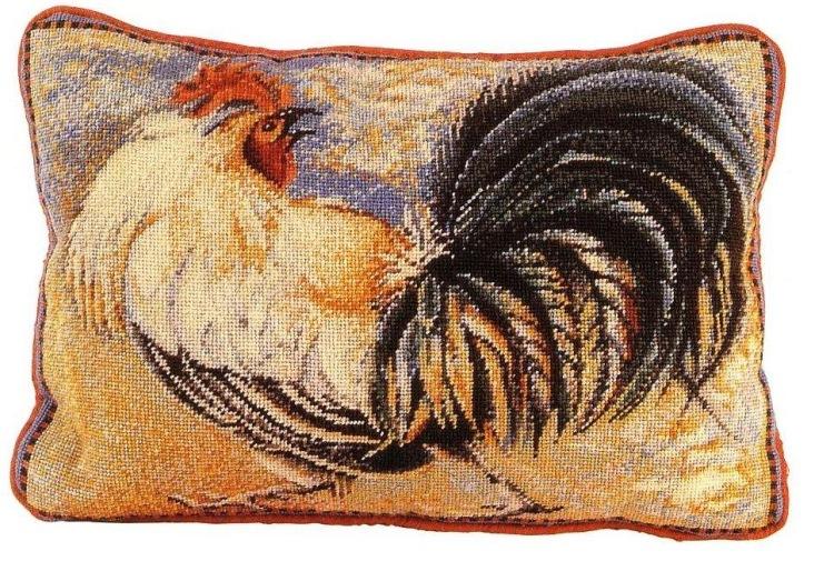 Подушки с вышивкой петуха