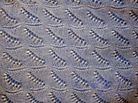 Вязание спицами схема платок ландыши - Master class