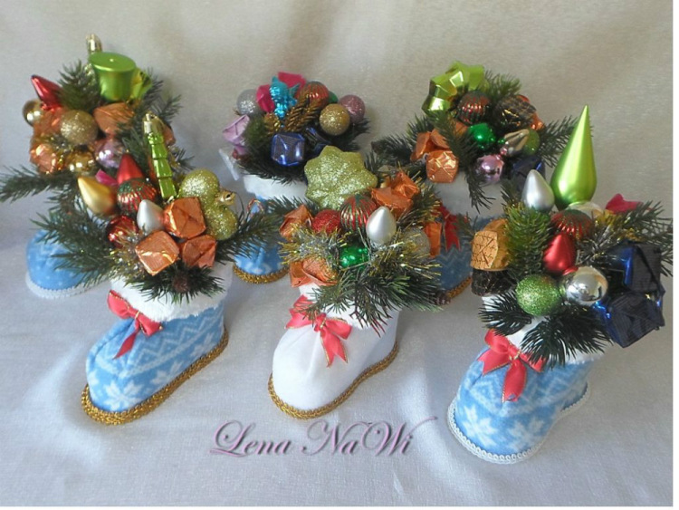Новогодние поделки с конфет своими руками с