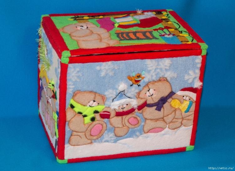 Органайзер из коробок для игрушек своими руками