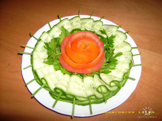 украшения стола простыми блюдами