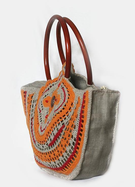 """Юбка - ткань+филеечка.  (Много лекал сумок в рубрике  """"Вязаные сумки """")"""