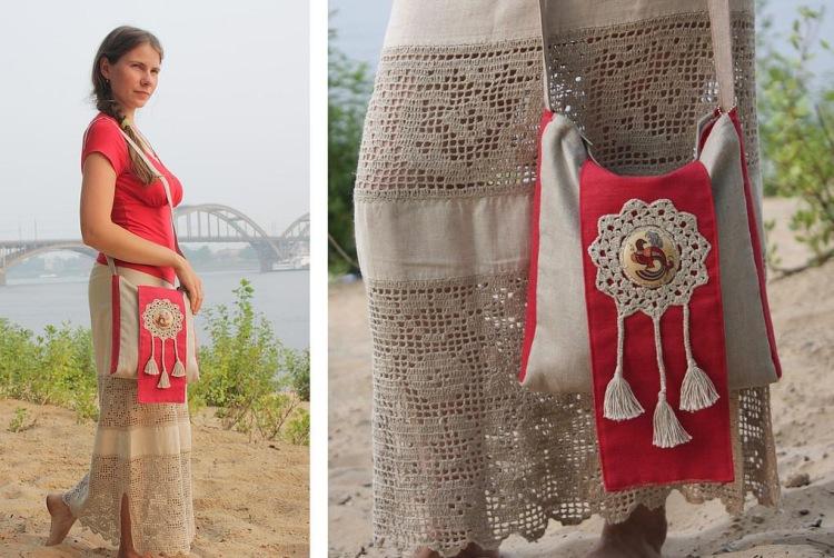 СУМКИ... ткань + вязание... последние модельки в сочетании с юбкой.