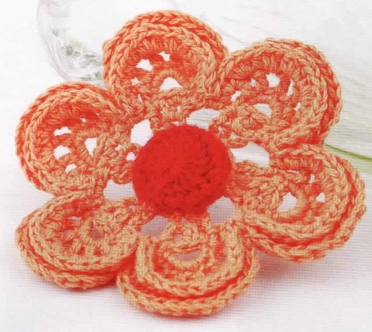 вязаные цветочки крючком схемы. вязаные цветы крючком со схемами