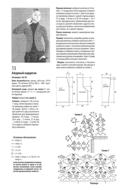Схемы вязания спицами, крючком. . Модели 2014 - 2015 года. Для ажурного кардигана Вам потребуется: пряжа ELEGANT
