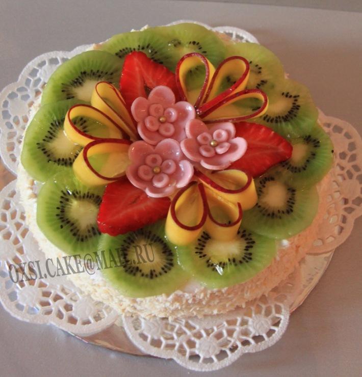 """Gallery.ru / Торт """"Фруктовый цветок"""" - Торты украшенные фруктами - oxsi"""